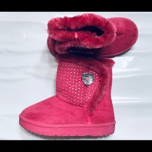 pink shoe girl boots size 9 very hot with ornament